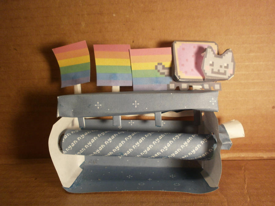 Minecraft Papercraft Nyan Cat Nyan Cat Papercraft by