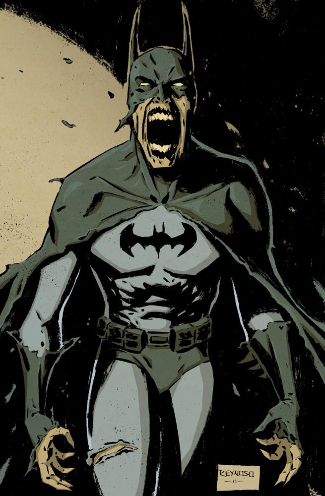Zombie Batman Pin Up by FrankReynoso