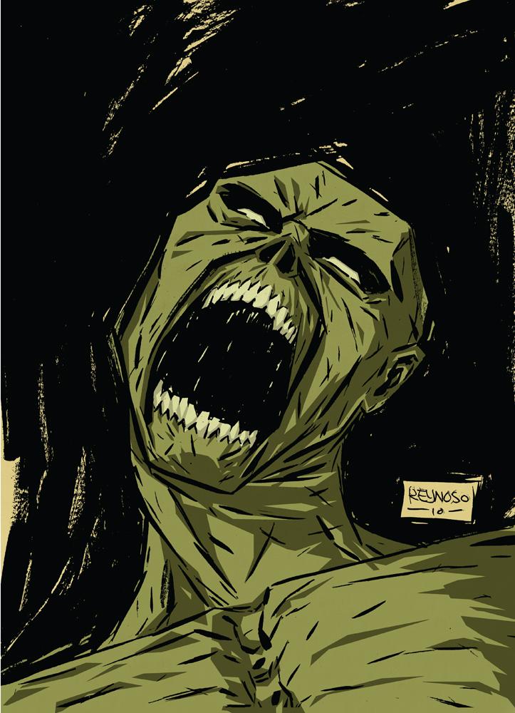 Zombie Head Pin Up by FrankReynoso
