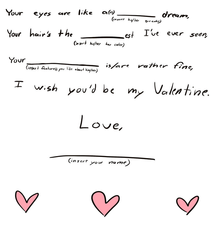 Love Letter Generator Fill In The Blank