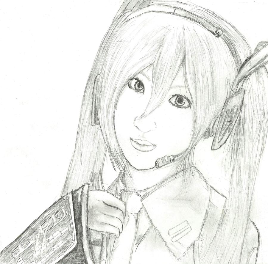 Saya-san as Hatsune Miku by WendySakana