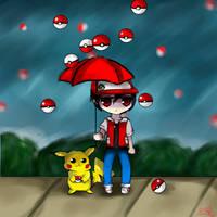 It's Raining Pokemon! by WendySakana
