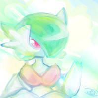 Mega Gardevoir doodle by WendySakana