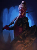 Drow - house soldier by KrisCooper