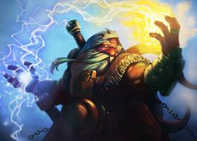 Warcraft Dwarf Shaman by KrisCooper
