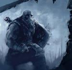 sketchbook - Dwarf on the battlefield