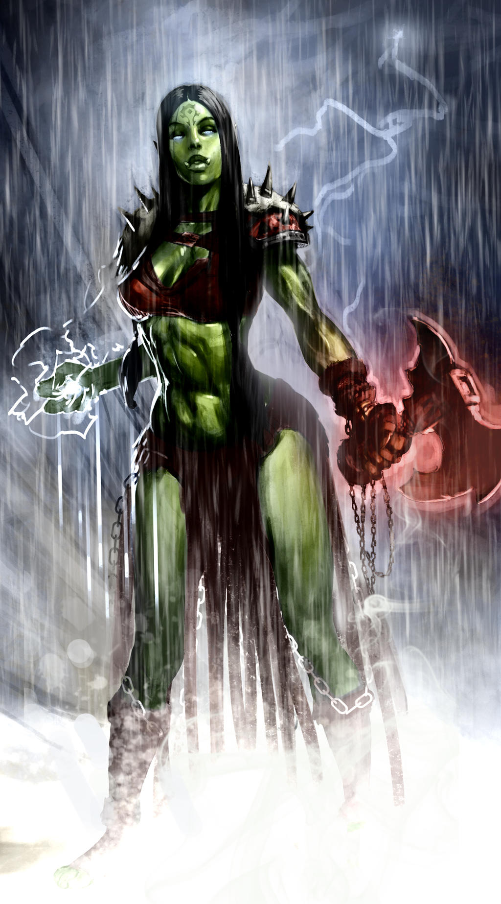 Troll vs orc shaman hentai picture