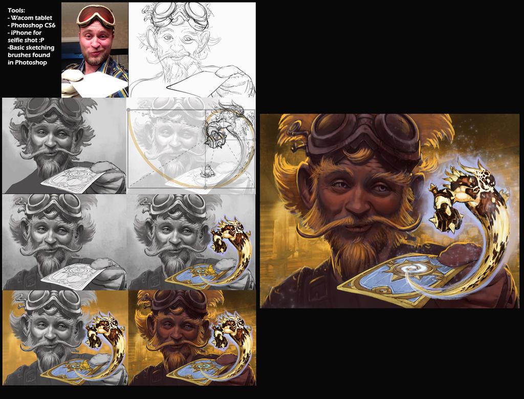 Hearthstone art tutorial by KrisCooper
