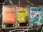 My collection of Patapon games