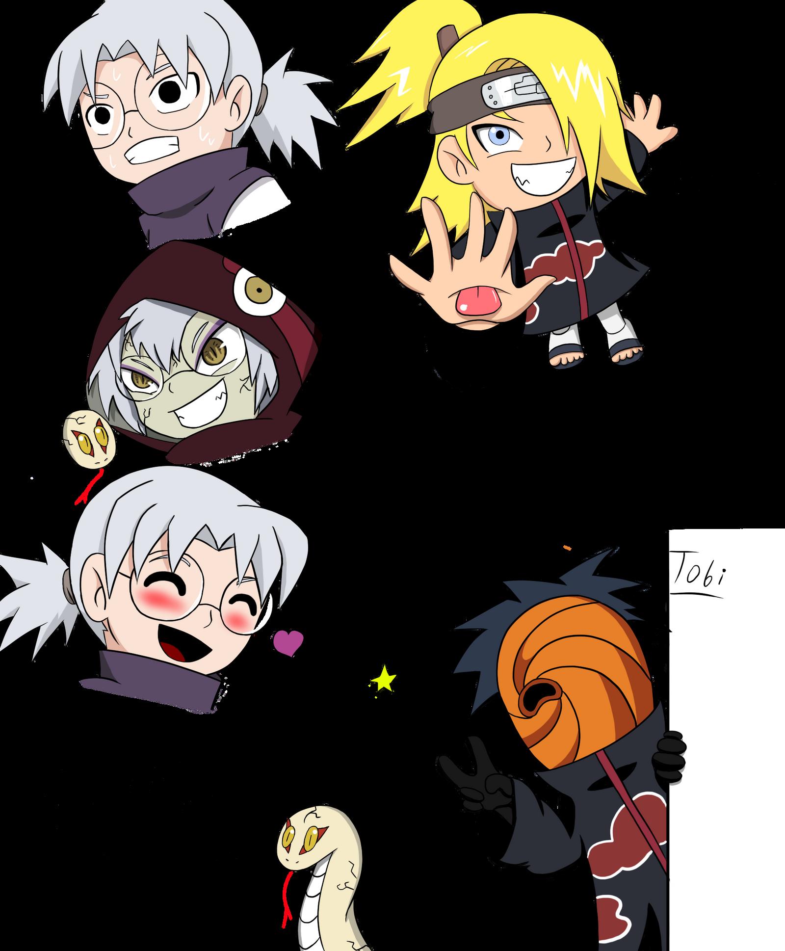Chibi Naruto Characters Sketch Dump By Fominado