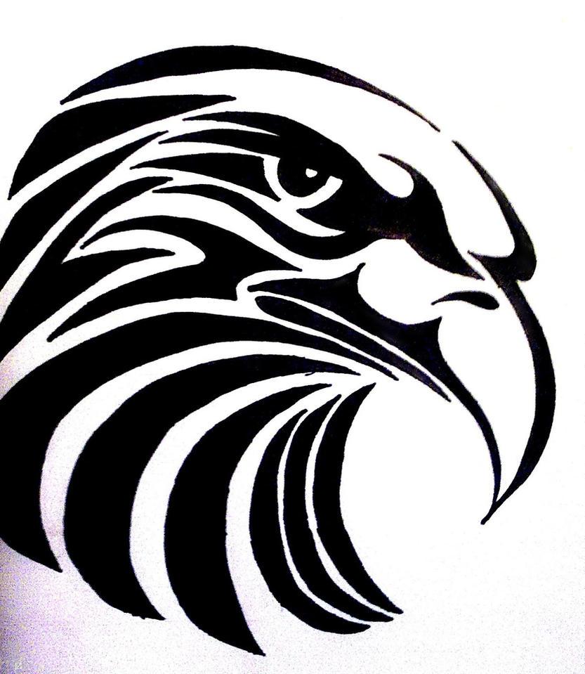 tribal eagle tattoo by bogi90 on deviantart. Black Bedroom Furniture Sets. Home Design Ideas