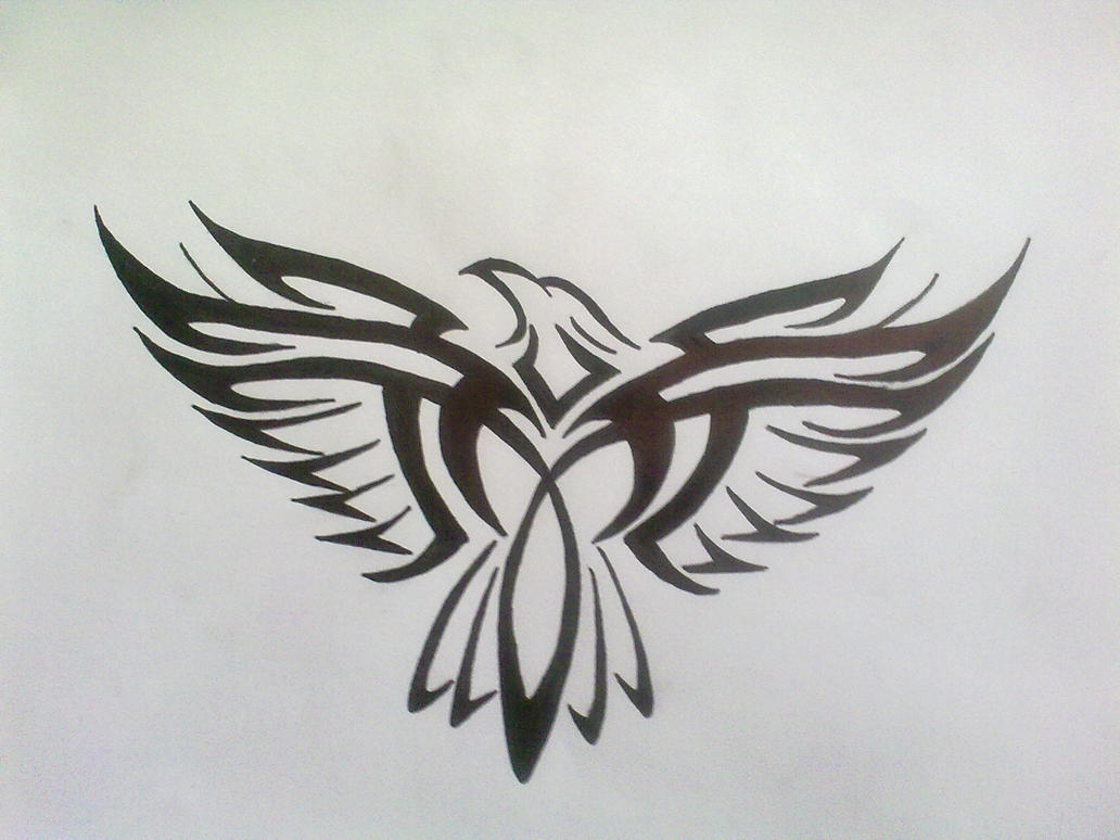 tribal eagle tattoo by bogi90 on deviantart. Black Bedroom Furniture Sets. Home Design Ideas