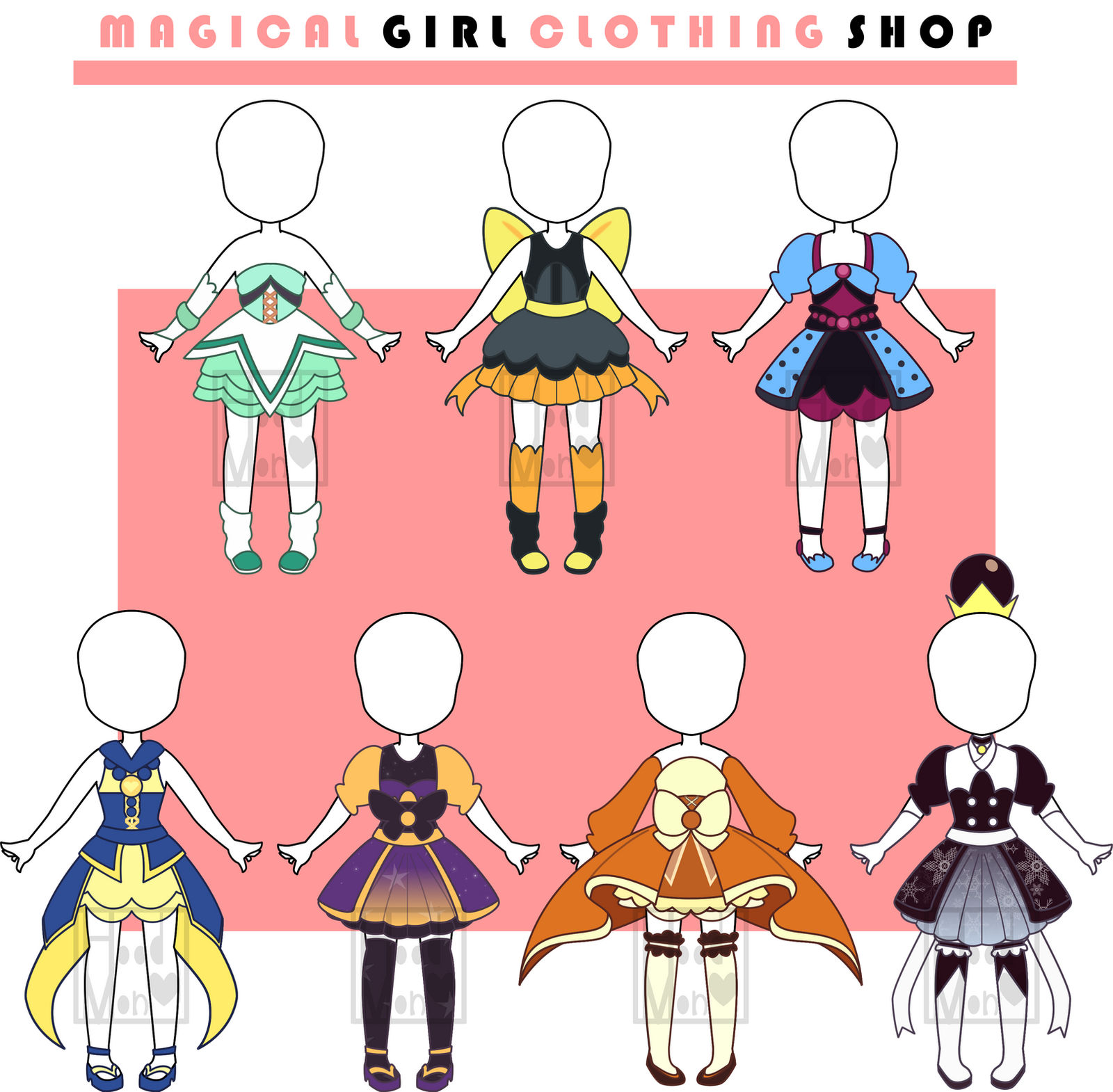 OPEN) Magical Girl outfits adopts (OTA) by X-HoodMon-Adopts-X on