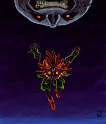 Majora Mask and the Skull Kid by RobertoMontesinos