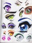 Eyes and Brows-pencilcrayon