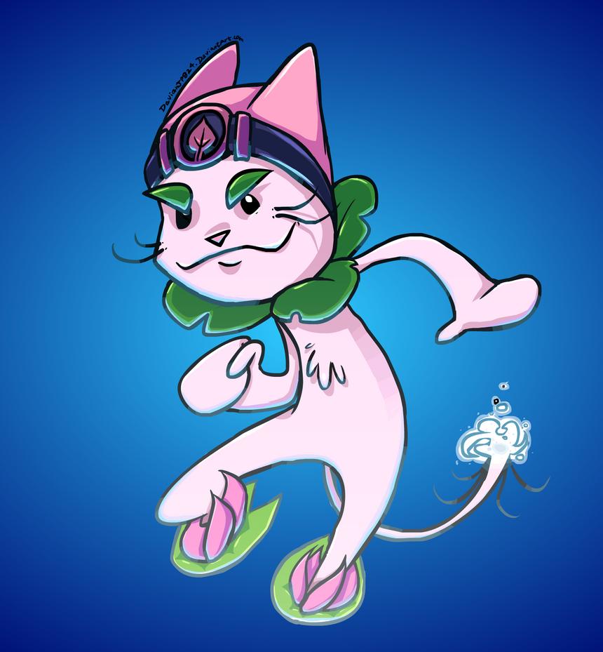 PVZ Heroes fan-made hero, Whisker Surfer by DevianJp824