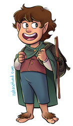 The Brave Little Hobbit Whom We All Admire by NatAsplund