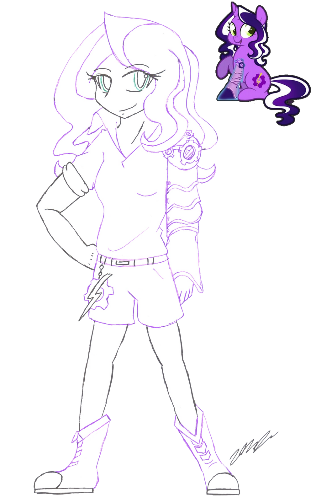 Human OC Special: Purple Tinker (#49) by DJNightmar3