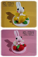 Summer Fruits Winged Bunnies by RedFenyx