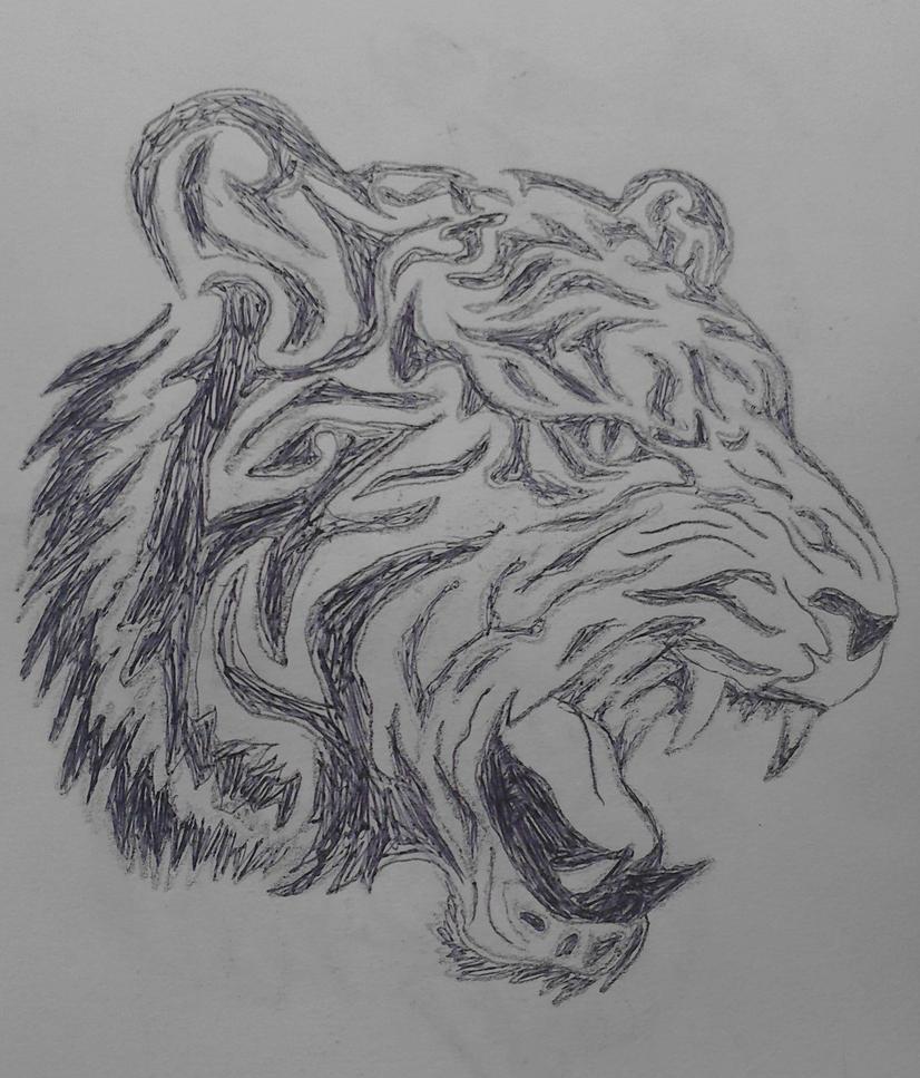 Tribal Tiger By Ruttan On Deviantart: Tribal Tiger Design By InForTheSkrill On DeviantArt
