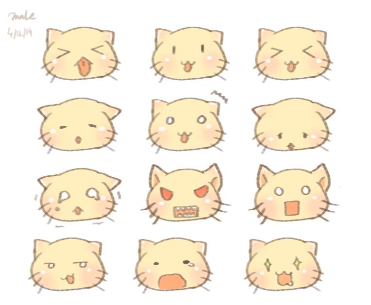 Cat emoticons pack 2 by artofmai on DeviantArt