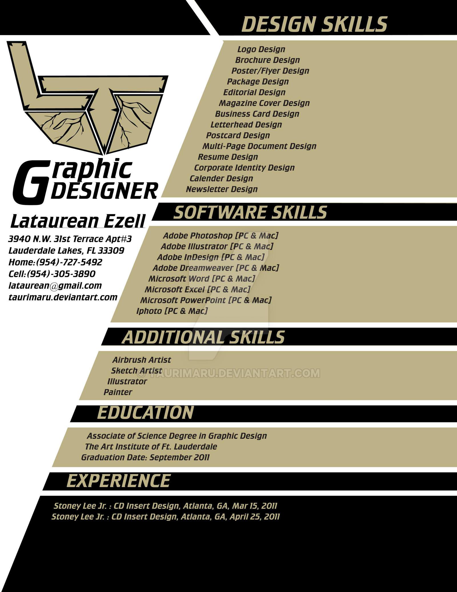 Resume Best Graphic Design Resumes graphic art design resume my by taurimaru on deviantart