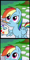 Rainbow Dash's canvas (Commissioned)
