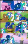 Sisterhoof Social:Celestia and Luna (Commissioned)