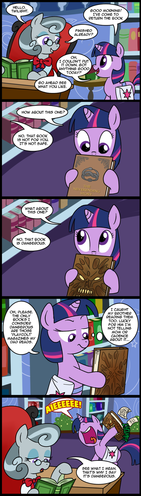 MLP: Dangerous book (Commissioned) by tan575