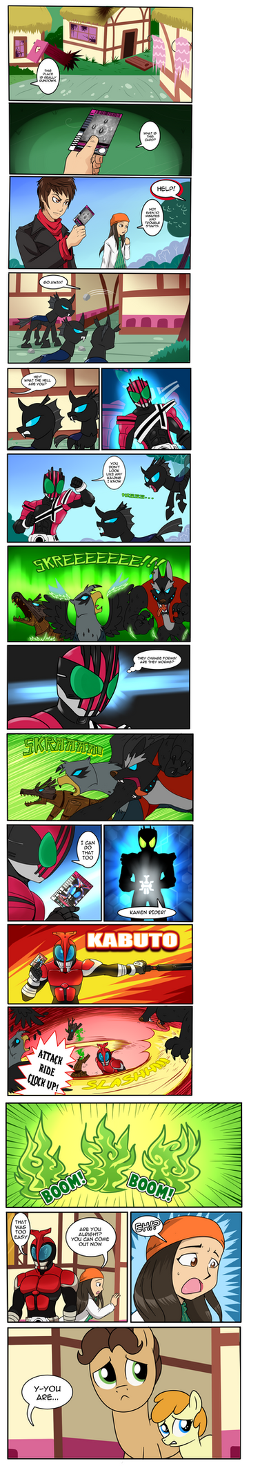MLP/Kamen Rider Crossover (Commissioned) by tan575
