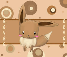 Eevee . Pokemon . - chibi by Sharomii0