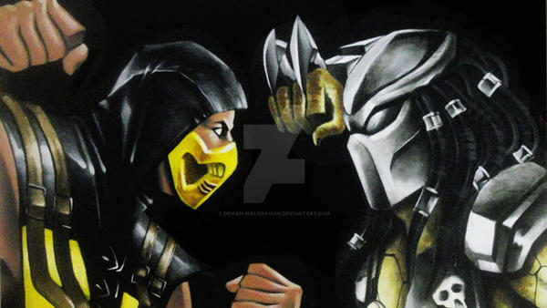 SCORPION vs PREDATOR by DEVIAN-MALKHAVIAN