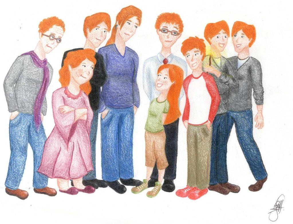 Weasley family by menakaren on DeviantArt