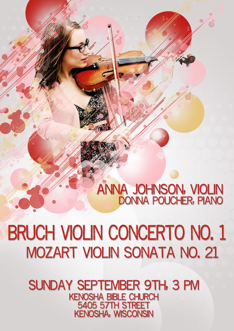 Violin Recital Poster By Annamontana34
