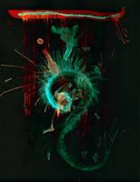 WDV 047 Spiral Dragon Tapestry by wetdryvac