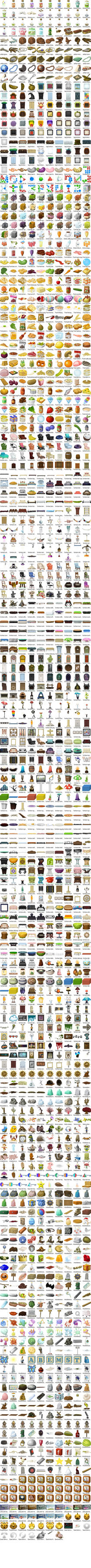 Glitch Items Contact Sheet by wetdryvac