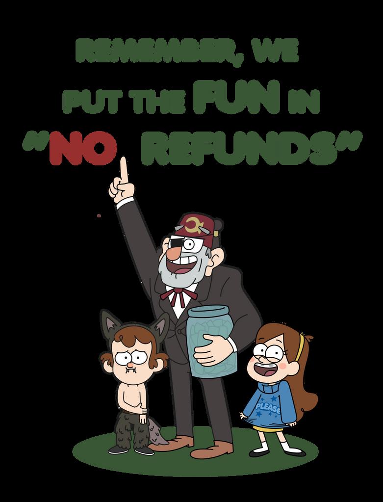 The ''FUN'': Gravity Falls T-shirt and Print by Hanatsumi