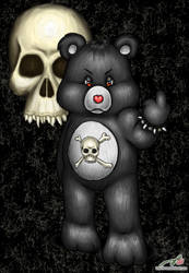 Skull CareBear by luvtuya