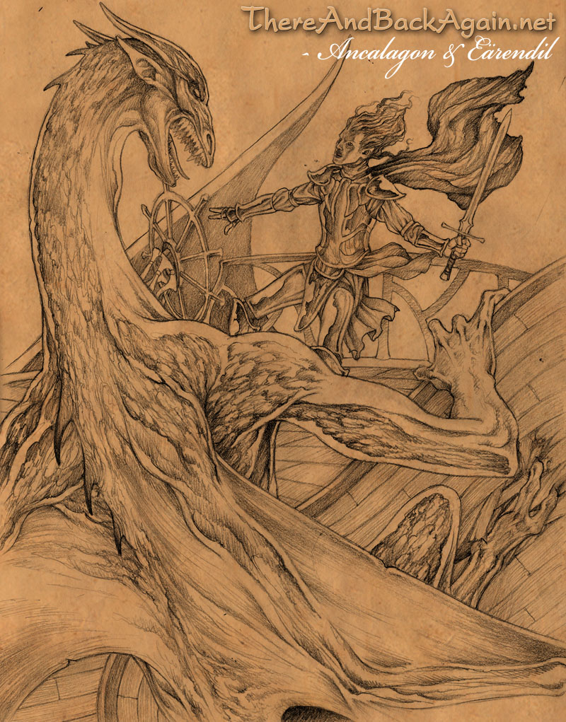 Ancalagon and Earendil by DanielGovar