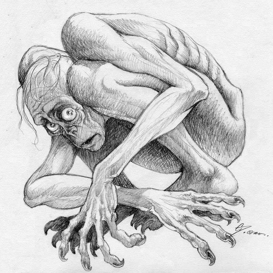 Gollum Sketch 2 by DanielGovar