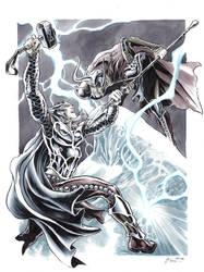 Thor vs Loki by DanielGovar