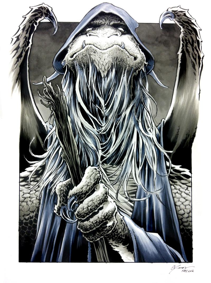 NYCC 2012 sketch - Gandalf Dragon by DanielGovar