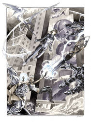 X-men vs the Sentinels by DanielGovar
