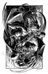 Batman vs Manbat by DanielGovar
