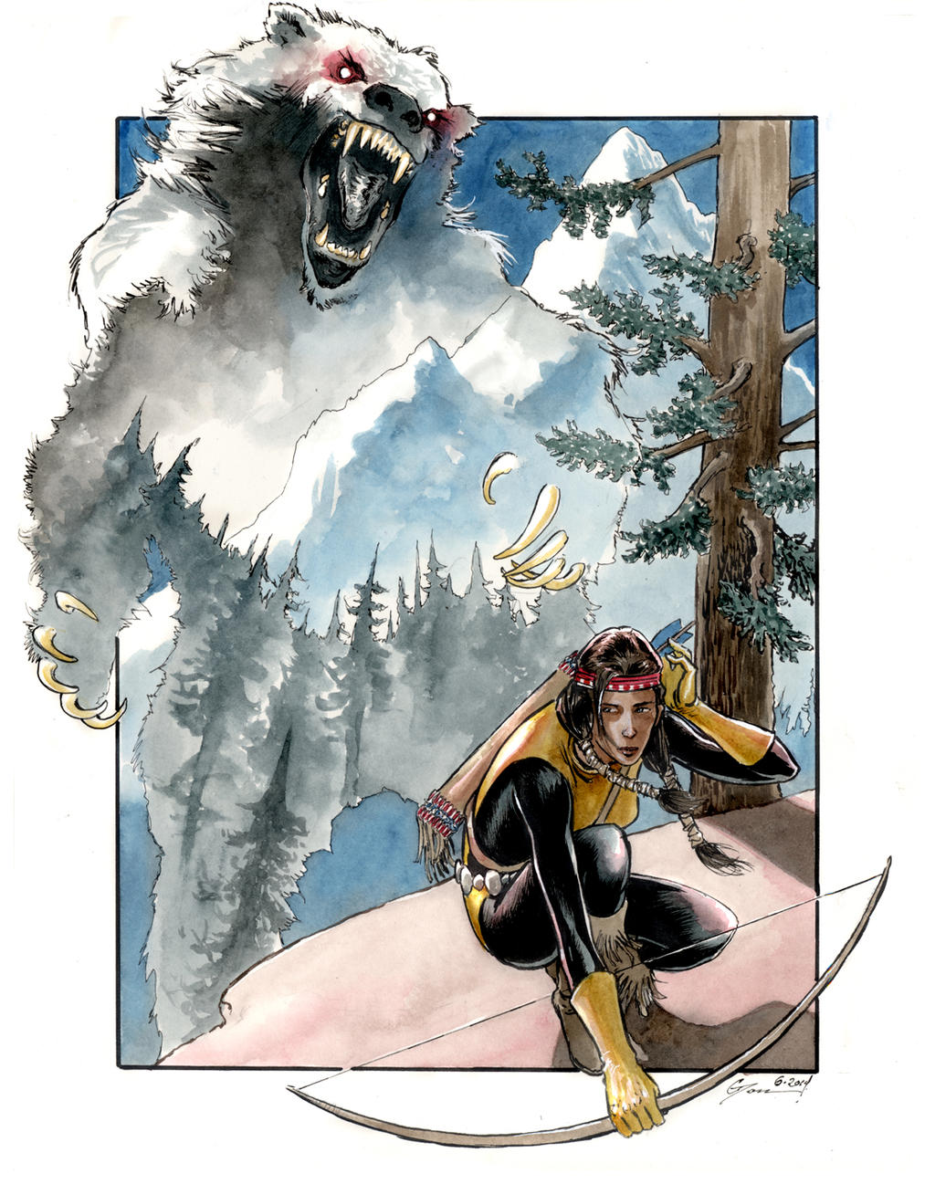 Dani Moonstar vs Demon Bear