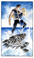 Namor and Invisible Woman by DanielGovar