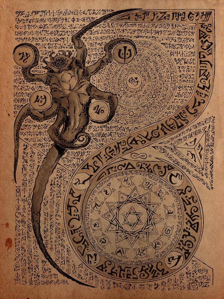 Necronomicon Page by DanielGovar