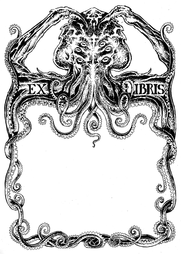 Bookplate Cthulhu by DanielGovar