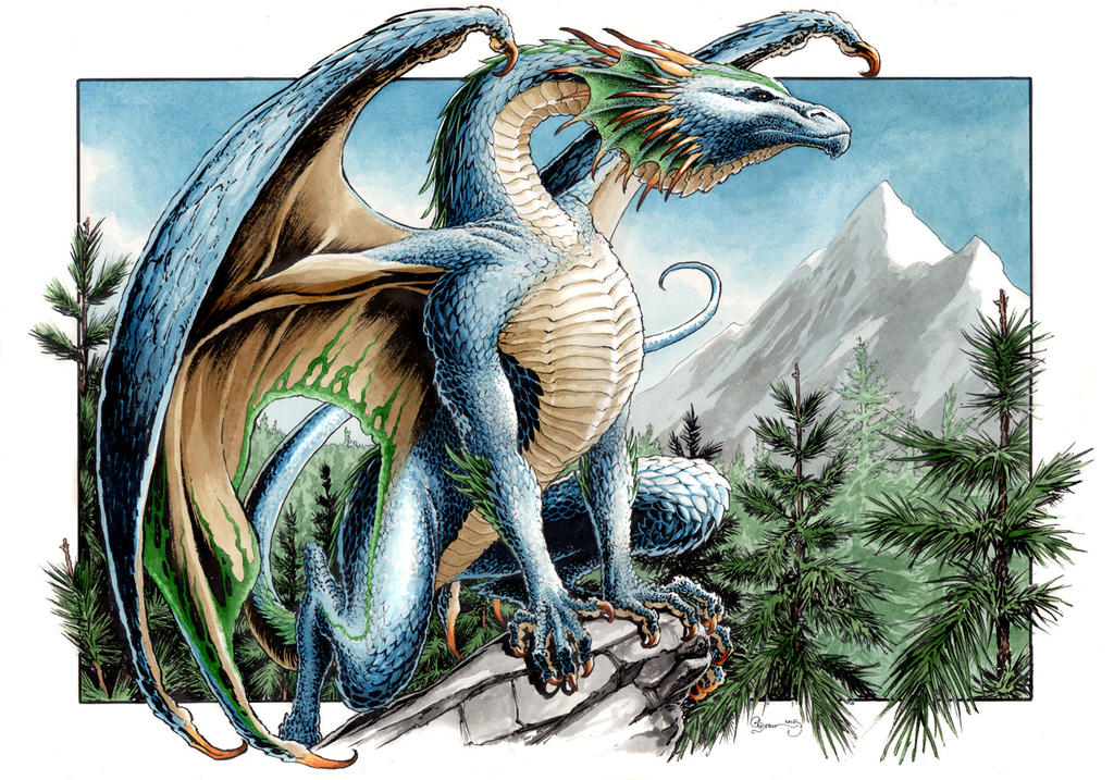 Northern Blue Dragon by DanielGovar