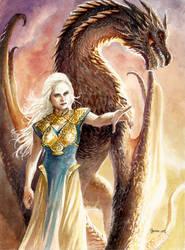Daenerys and Drogon by DanielGovar